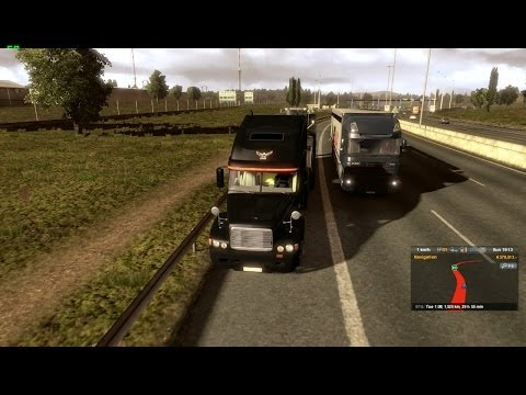 Euro Truck Sim 2: Epic jurney Pt.3 w/ TruckSim 4.7 map in a