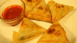 How To Make Cheese & Jalapeno Triangles (cheese Samosa) By Maithily