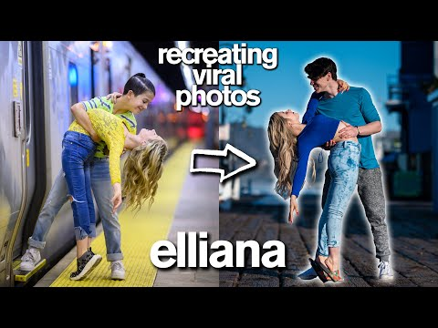 Recreating Viral Couple's Photos *Two HUGE Pranks and a KISS* ft/ Elliana Walmsley - Jordan Matter