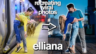 Recreating Viral Couple's Photos *Two HUGE Pranks and a KISS* ft/ Elliana Walmsley