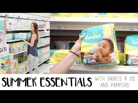 Summer Essentials With Pampers And Babies R Us!