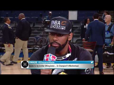 Kyrie Irving joins the desk Postgame | Cavaliers vs Warriors Game 7 | June 19 NBA 2016 Finals