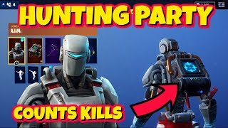 NEW HUNTING PARTY + KILL COUNTING BACKBLING SKIN IN-GAME FORTNITE