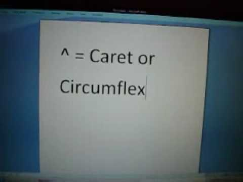Caret Or Circumflex Youtube