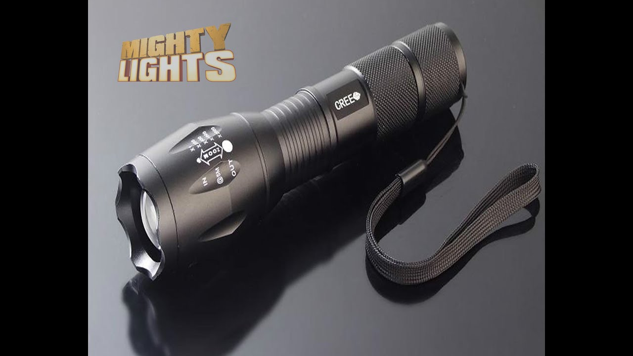 ultrafire 174 e17 cree xm l t6 zoomable 2000 lumens security torch flashlight demo review