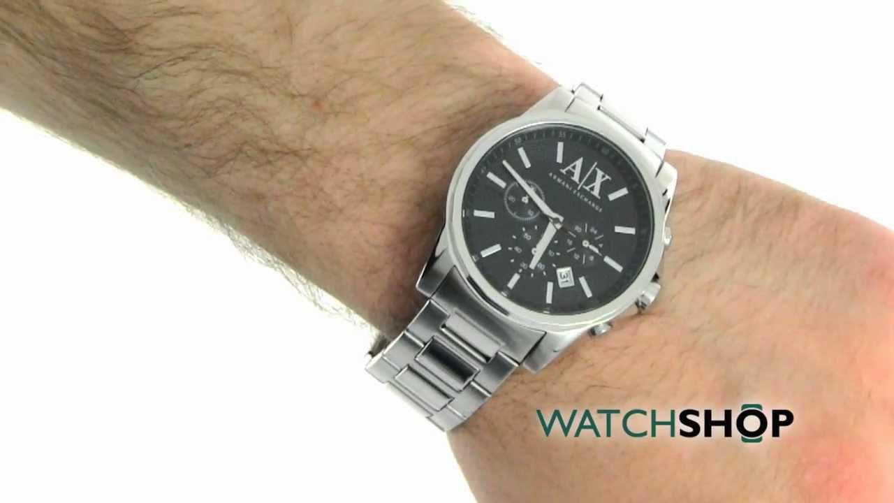 9b9ac4a44 Men's Armani Exchange Active Chronograph Watch (AX2084) - YouTube