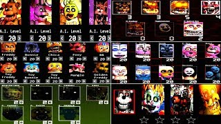 Five Nights at Freddy's 6 ALL CUSTOM NIGHT FNAF 5 4 3 2 1 *FNAF 2018*