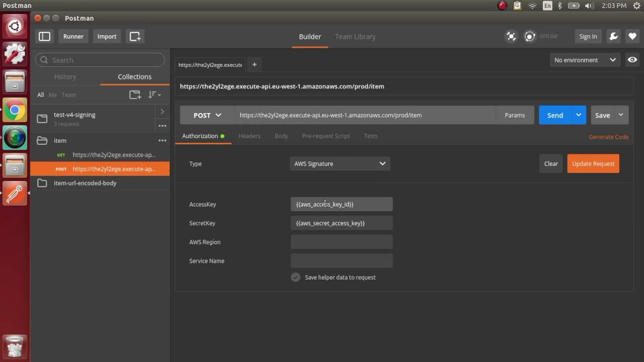 Run & test your AWS API Gateway endpoints with Postman