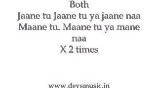 Jaane tu ya Jaane Na instrumental karaoke www.devsmusic.in Devs Music Academy