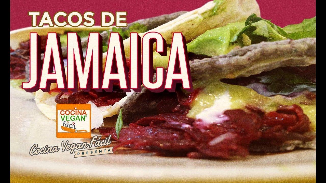 Tacos de jamaica  Cocina Vegan Fcil  YouTube