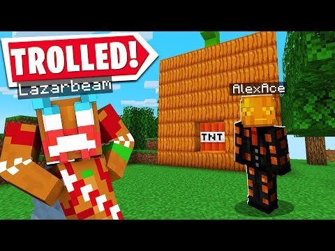 So I FINALLY TROLLED LAZARBEAM'S MINECRAFT RECORDING..
