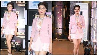 Rubina Dilaik looked like Barbie at Zee Gold Awards red carpet