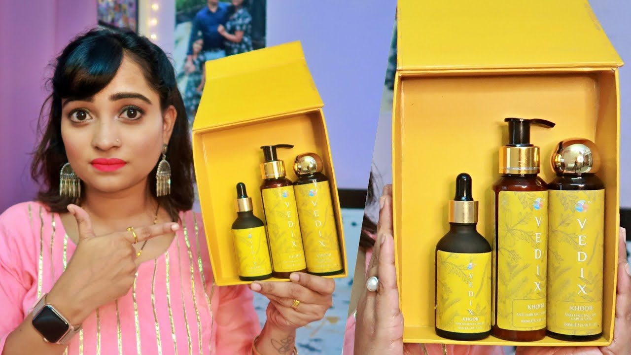 Stop Hair Fall Hair Loss Get Shiny Bouncy Hair Customized Hair Care Products Vedix Honest Review Youtube