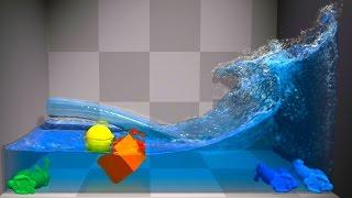 NVIDIA PhysX FleX v0.25 【Tech Demo】 i7 4770K GTX 780Ti 【1080p 60 Fps】