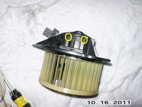 Blower fan motor removal replacement and lubrication for Volvo 850 blower motor
