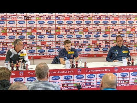 9. Spieltag   FCH - SGD   Pressekonferenz nach dem Spiel