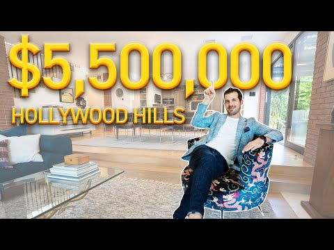 Modern House Tour On The Sunset Strip | Hollywood Hills Tour