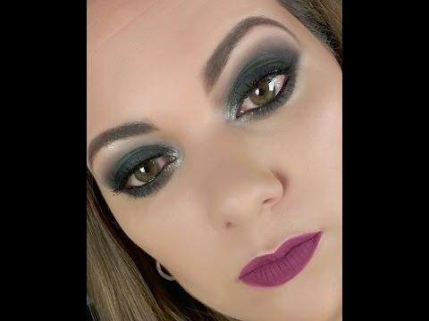 Maquiagem para a noite - Smokey eyes green tutorial
