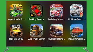 Impossible Car Tracks 3d,Parking Frenzy 2.0,Car Driving School,Multi Level Airport Parkin,Euro Truck screenshot 5