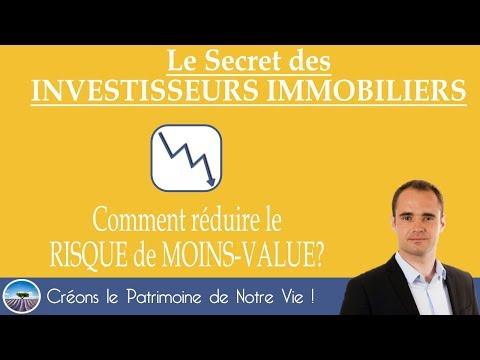 PLUS-VALUE IMMOBILIER💰Comment REDUIRE le RISQUE DE MOINS-VALUE?🔛 OlivierPatrimoine.com #EffetLevier