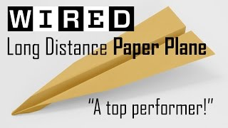 WIRED Magazine Long Distance Glider Paper Plane a Top Performer