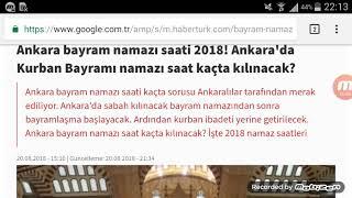 Ankara Bayram Namazı Saat Kaçta? 21 Ağustos 2018