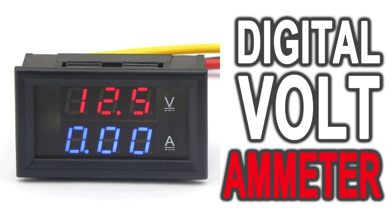 DROK® Accurate Voltmeter Ammeter DC4.5-30V review - YouTube