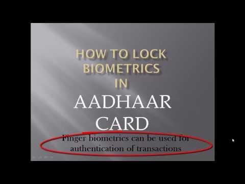 Aadhaar Card : How to lock your biometric details...