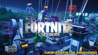 Fortnite Live Stream! Creator Code: JusFreshGames
