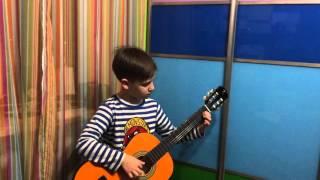 Гра на гітарі Їхав козак за Дунай