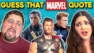 Guess That MARVEL Movie Quote Challenge (Thor, Avengers Endgame, Black Panther)