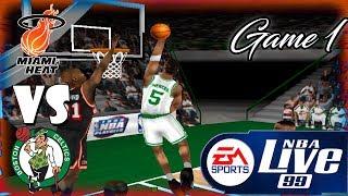 Nba Live 99 Miami Heat-Boston Celtics Playoff game 1