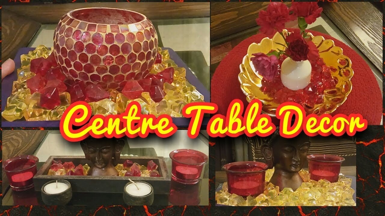 indian style centre table decor how to decorate centre table indian youtuber soma sons