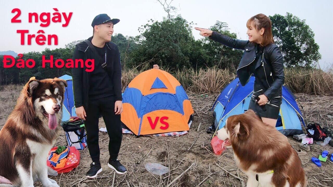 Thử thách sống ngoài đảo hoang NTN VLOG vs MẬT PET - phần 1
