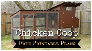 Free Coop Plans - Easy to Clean Suburban Chicken Coop