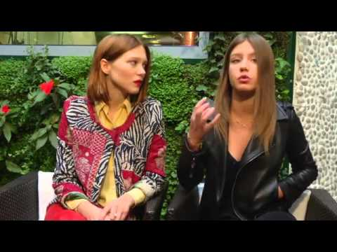 Interview Lea Seydoux and Adele Exarchopoulos for «Face au film»