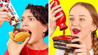 EXTREME FOOD CHALLENGES FOR REAL FOODIES || Try Not To Get Hungry With 123 Go! Genius