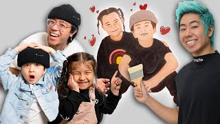 I Painted My Little Brother's CRUSH All Over His Bedroom! **ft. ZHC, Nick&Sienna**