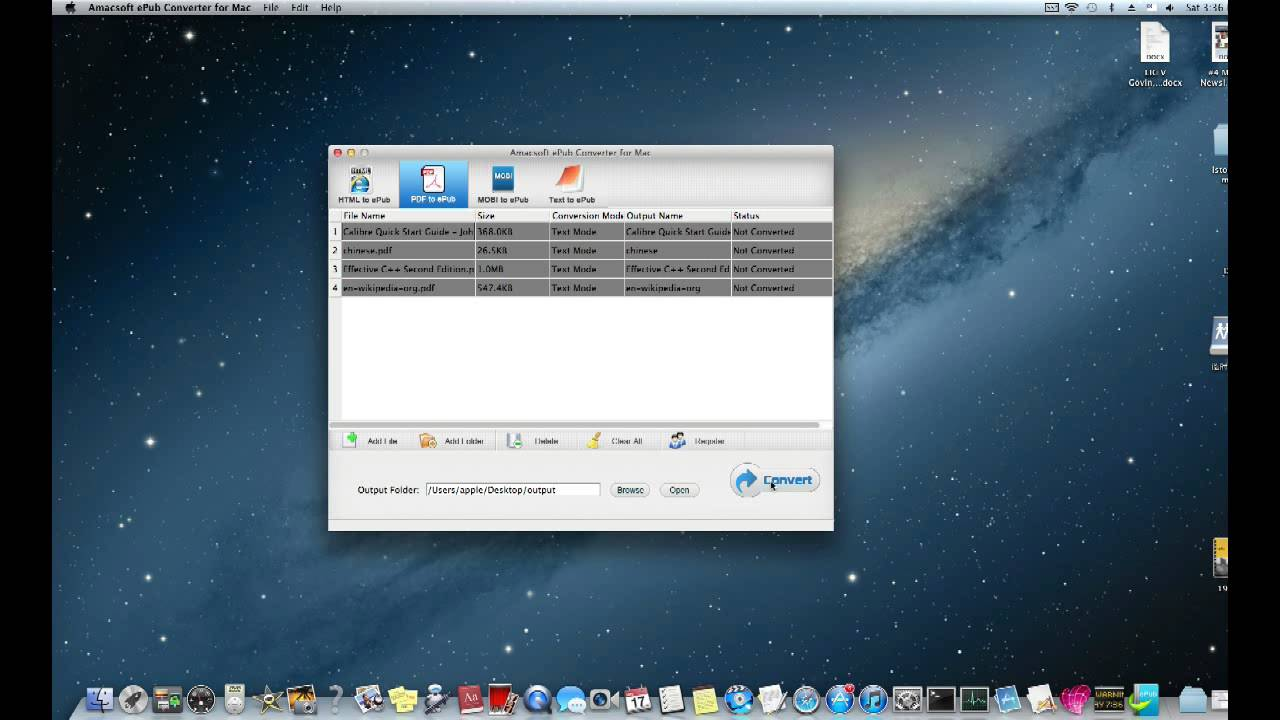 Amacsoft Epub Converter for Mac-ePub Maker for Mac Can Convert  HTML/PDF/MOBI/Text to ePub on Mac