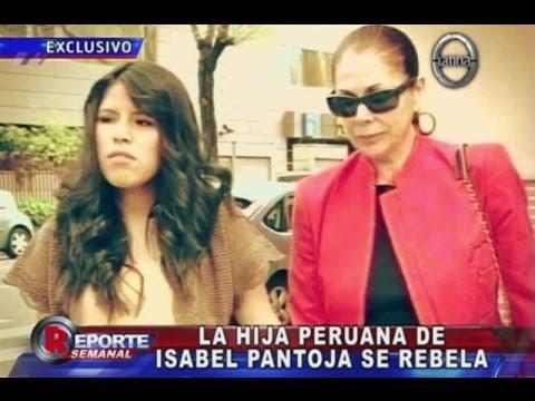 La hija peruana de Isabel Pantoja se rebeló