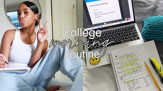 my *online* college morning routine 2020