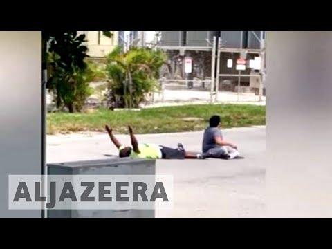 US police shoot unarmed black man