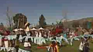 Massive Azteca Mexica New Year Drum Circle and Dancers
