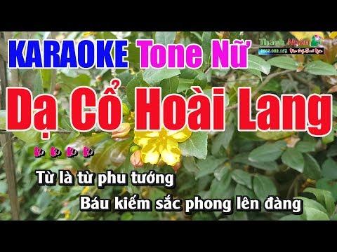 Dạ Cổ Hoài Lang Karaoke   Tone Nữ - Nhạc Sống Thanh Ngân