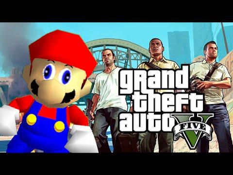Grand Theft Mario - If Mario was in...GTA V