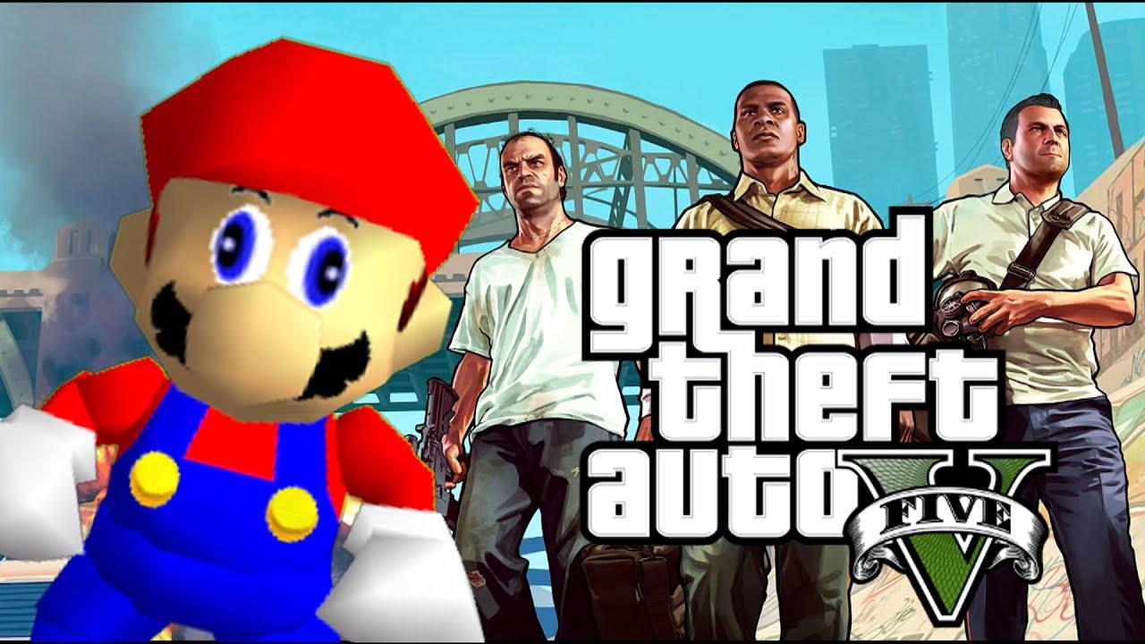 Grand Theft Mario - If Mario was in...GTA V thumbnail