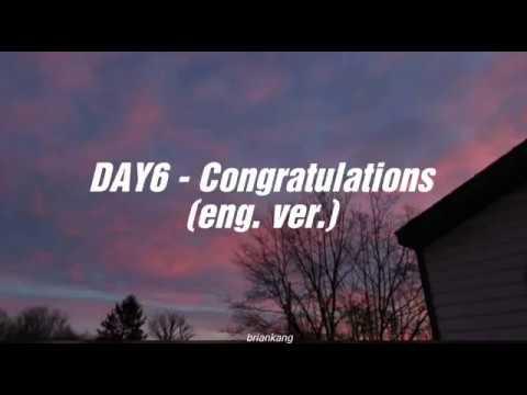 Day6 - Congratulations Lyric Video (eng. Ver.)