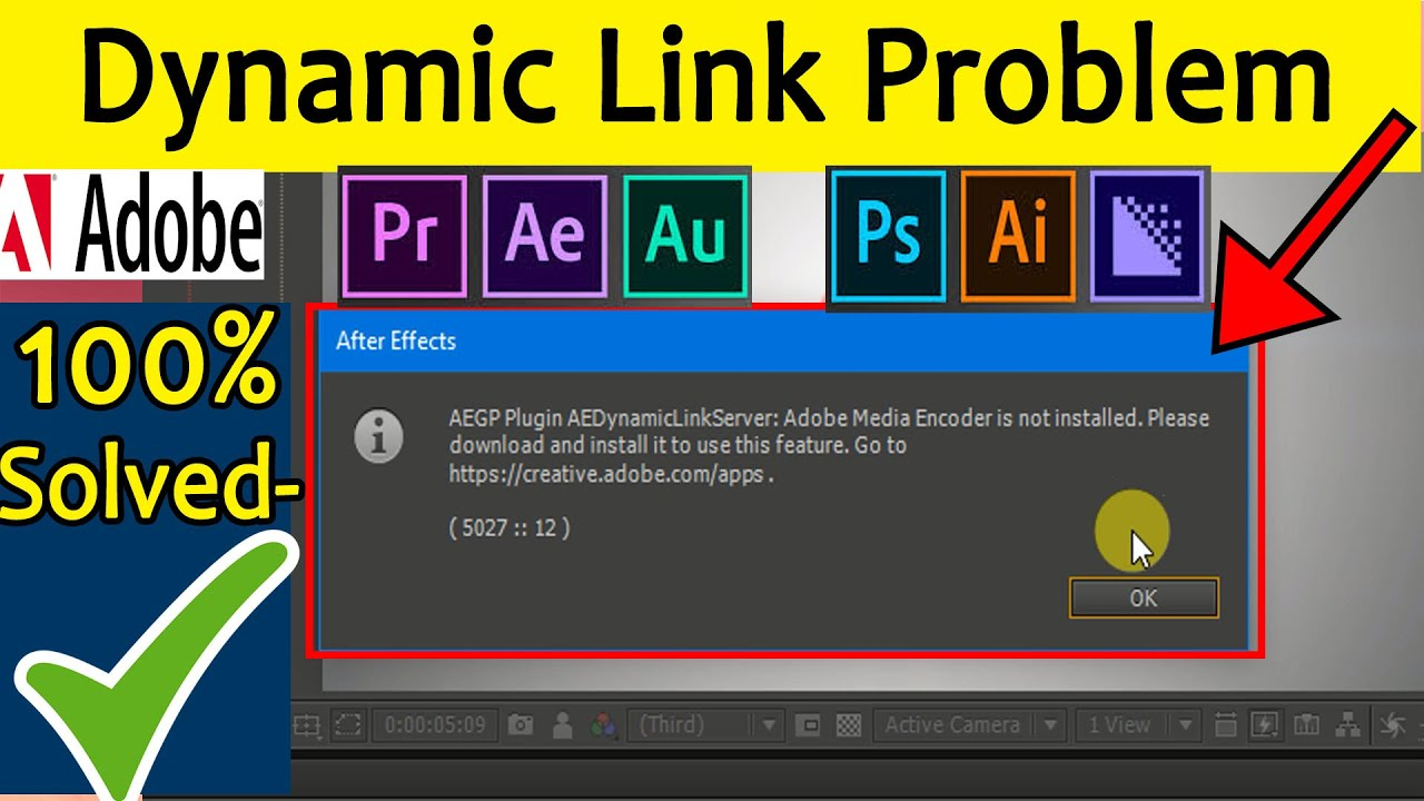 AEGP plugin AEDynamicLinkServer;Adobe Media Encoder is not installed/Dynamic link problem 2018