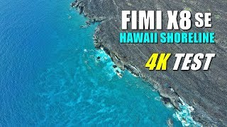 FIMI X8 SE Drone Review - 4K Cinematic Video Sample of MAUI Hawaii Shoreline Footage