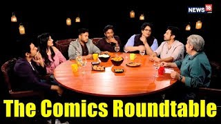 The Comics Roundtable 2018 with Rajeev Masand | Tanmay Bhat,  Kanan Gill, Abish Mathew